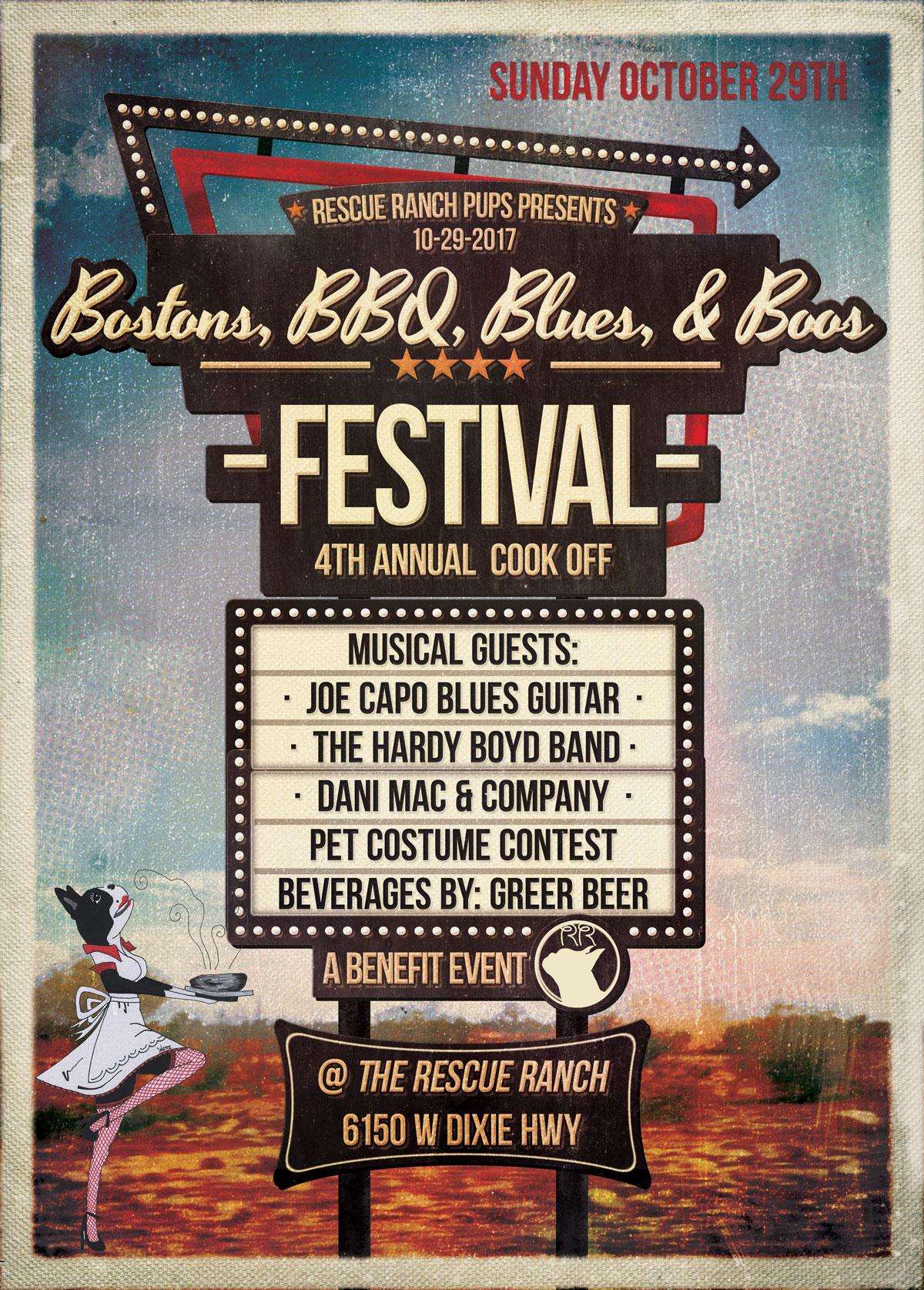 2017 Bostons, BBQ, Blues, & Boos Festival